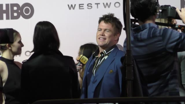 luke hemsworth outside the westworld season 3 premiere at tcl chinese theatre in hollywood in celebrity sightings in los angeles - mann theaters stock videos & royalty-free footage