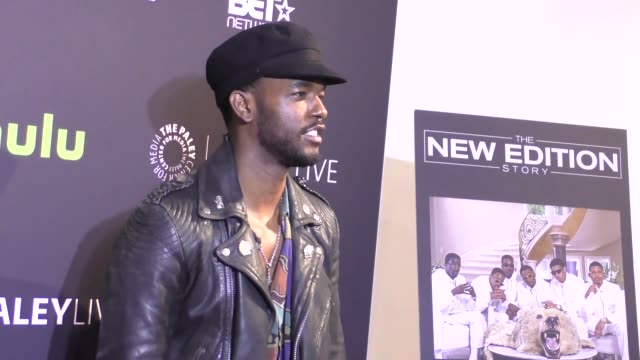 Luke James at the Paley Center For Media Presents Premiere Of BET's 'The New Edition Story' on December 14 2016 in Beverly Hills California