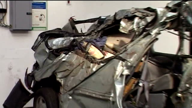 luke mccormick sentenced to seven years for death by dangerous driving t09060812 int wreckage of toyota car - luke mccormick stock videos and b-roll footage