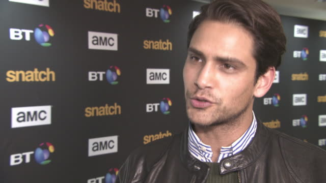 interview luke pasqualino on being a fan of the original film the pressure on doing the series working with rupert grint and the rest of the cast how... - tv interview stock videos and b-roll footage