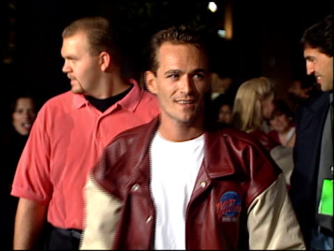 Luke Perry at the Planet Hollywood entrances on September 17 1995
