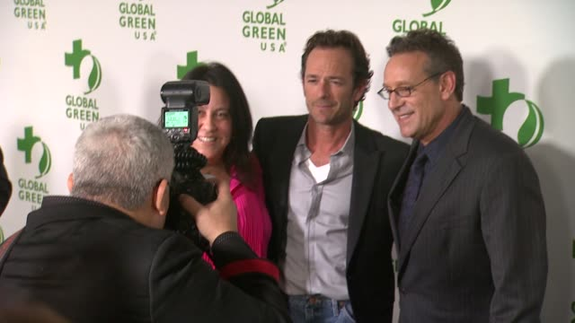 luke perry, mary luevano, and rob steinberg at the global green usa 11th annual pre-oscar® partyat avalon on february 26, 2014 in hollywood,... - oscar party stock videos & royalty-free footage
