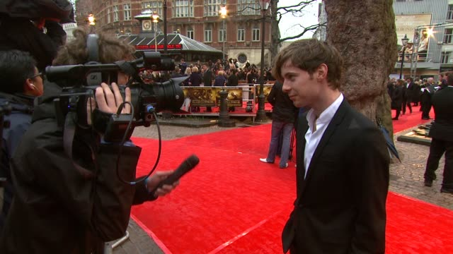 luke treadaway at the the clash of the titans at london england - clash of the titans stock videos & royalty-free footage