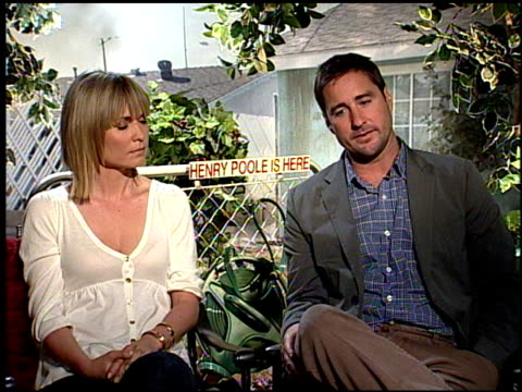 Luke Wilson and Radha Mitchell on finding it emotionally challenging at the HENRY POOLE IS HERE junket at Los Angeles CA