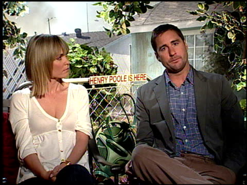 Luke Wilson and Radha Mitchell on why they wanted to do this movie at the HENRY POOLE IS HERE junket at Los Angeles CA