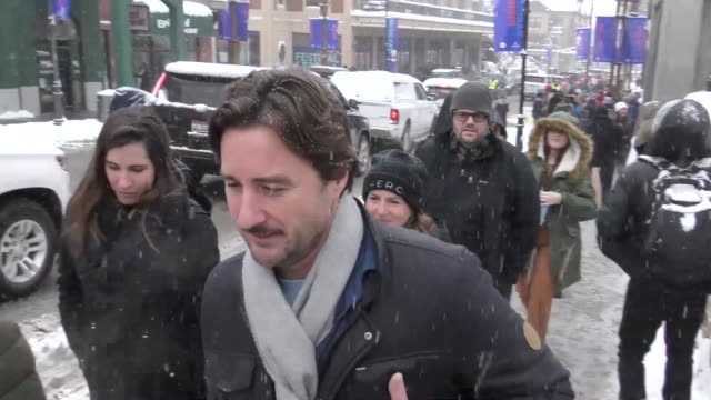 Luke Wilson on Main Street at the Sundance Film Festival in Park City Utah at Celebrity Sightings in Park City on January 20 2018 in Park City Utah
