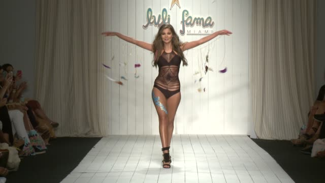 CLEAN Luli Fama 2016 Collection Runway FUNKSHION Swim Week Miami Beach at FUNKSHION Tent on July 18 2015 in Miami Florida