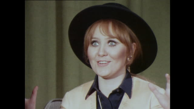lulu talks about her excitement competing in and winning the eurovision song contest - bbc archive stock-videos und b-roll-filmmaterial