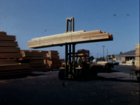 vídeos de stock e filmes b-roll de lumber yard - só homens maduros