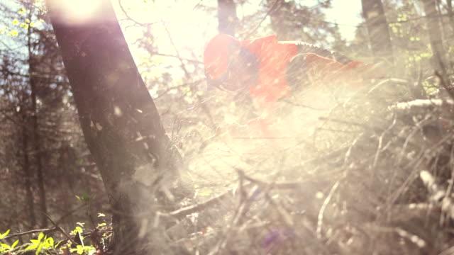 HD: Holzfäller Schneiden einen Baum