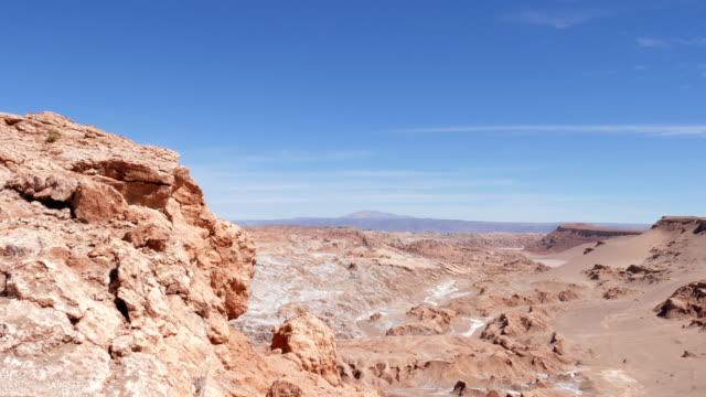 luna valley and atacama desert viewed from the san pedro de atacama road - antofagasta region stock videos and b-roll footage