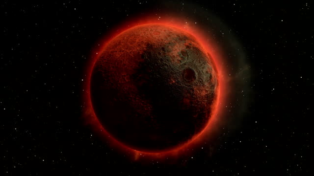 lunar eclipse, moon in space 3d illustration - solar system stock videos & royalty-free footage