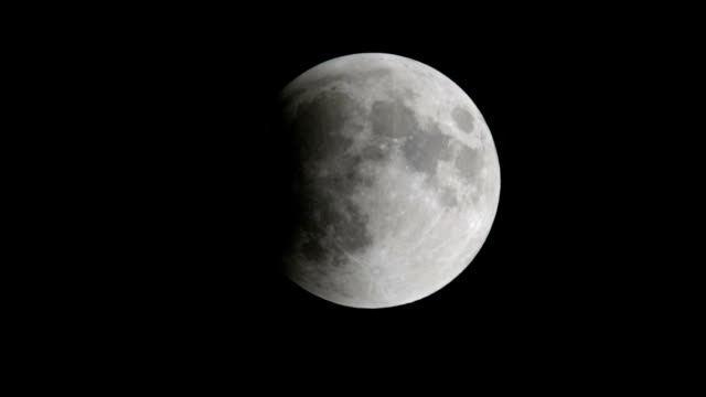 lunar eclipse of the moon - part of stock videos & royalty-free footage