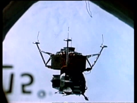 Lunar module in orbit