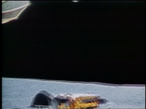 1972 lunar rover point of view on surface of Moon / Apollo 16