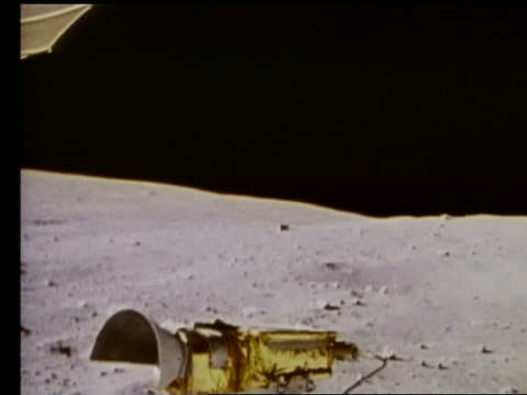 Lunar rover point of view over Moon surface