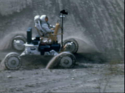 Lunar Rover Vehicles being tested at the Marshall Space Flight Center Lunar vehicle tests on January 01 1969 in Huntsville Alabama