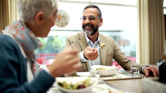 lunch break at a fine restaurant - lunch break stock videos & royalty-free footage