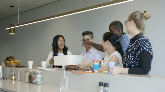 lunch together at work - coworker stock videos & royalty-free footage