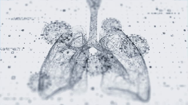 lungs scan with virus - respiratory system stock videos & royalty-free footage