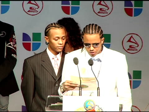 luny tunes announces latin grammy nominees at the 2005 latin grammy awards nominations at the music box theater in hollywood, california on august... - latin grammy awards stock videos & royalty-free footage
