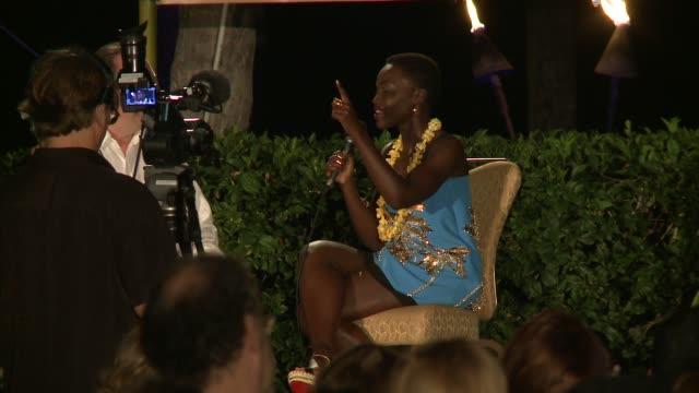 interview lupita nyong'o accepts rainmaker award and talks about star wars and her acting school 2014 maui film festival at wailea day 4 on june 07... - lupita nyong'o stock videos and b-roll footage