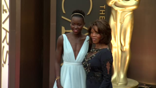lupita nyong'o alfre woodard 86th annual academy awards arrivals at hollywood highland center on march 02 2014 in hollywood california - alfre woodard stock videos & royalty-free footage