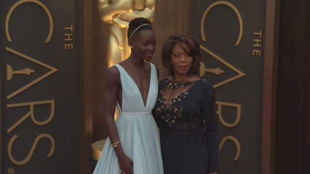 lupita nyong'o and alfre woodard 86th annual academy awards arrivals at hollywood highland center on march 02 2014 in hollywood california - alfre woodard stock videos & royalty-free footage