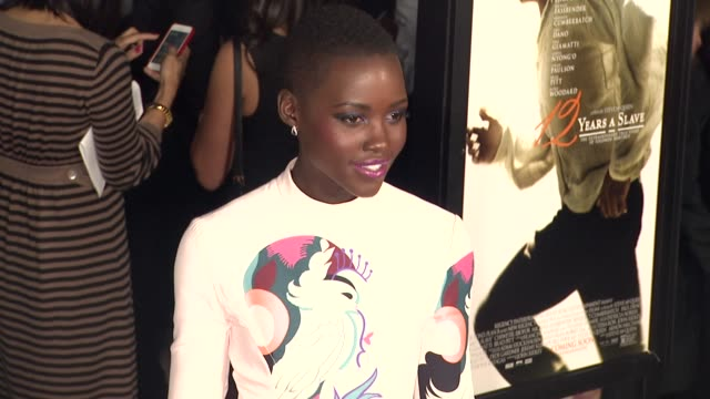 lupita nyong'o at 12 years a slave los angeles premiere on in los angeles ca - slavery stock videos & royalty-free footage