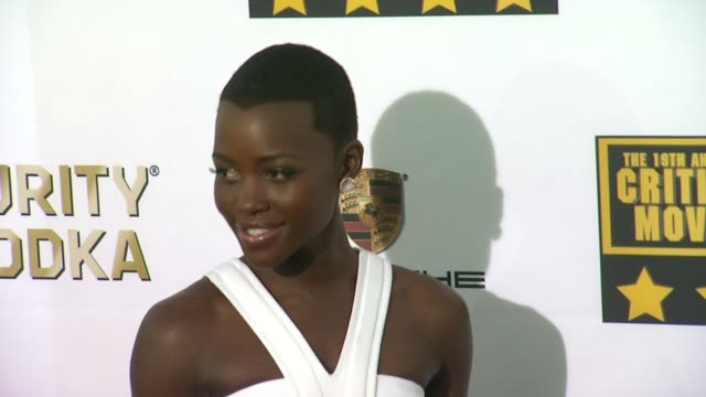 Lupita Nyong'o at 19th Annual Critics' Choice Movie Awards Arrivals at The Barker Hanger on in Santa Monica California
