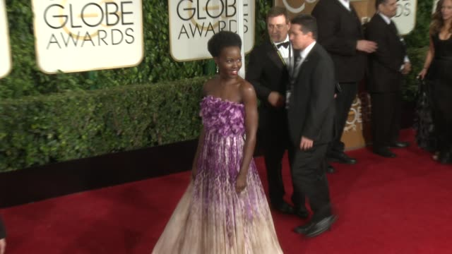 Lupita Nyong'o at 72nd Annual Golden Globe Awards Arrivals at The Beverly Hilton Hotel on January 11 2015 in Beverly Hills California