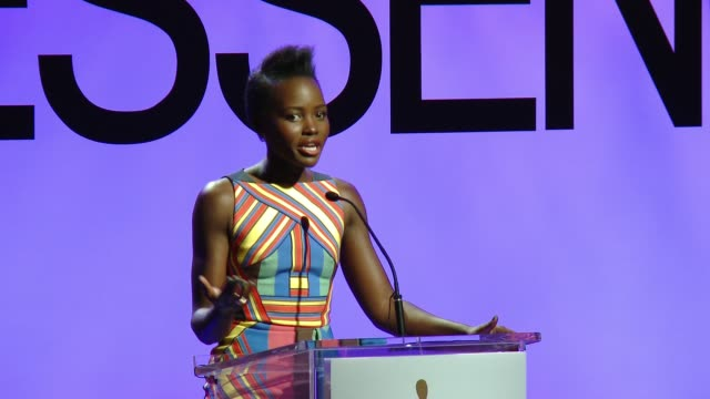 speech lupita nyong'o at 8th annual essence black women in hollywood luncheon in los angeles ca - lupita nyong'o stock videos and b-roll footage