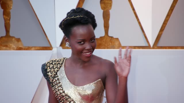Lupita Nyong'o at 90th Academy Awards Arrivals 4K Footage at Dolby Theatre on March 04 2018 in Hollywood California