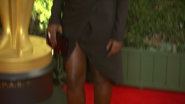 lupita nyong'o at academy of motion picture arts and sciences' governors awards in hollywood ca on - lupita nyong'o stock videos and b-roll footage