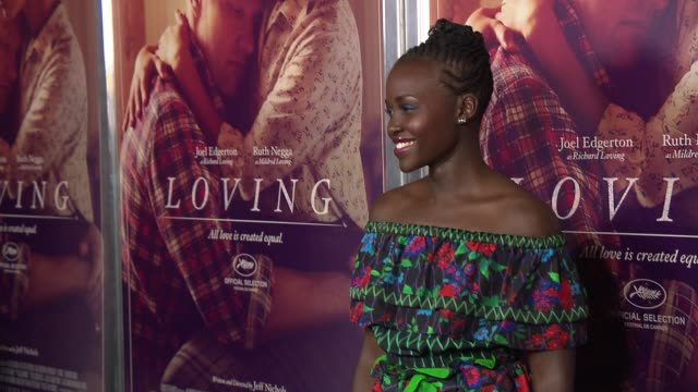 Lupita Nyong'o at Loving New York Premiere Presented by Focus Features at Landmark Sunshine Cinema on October 26 2016 in New York City