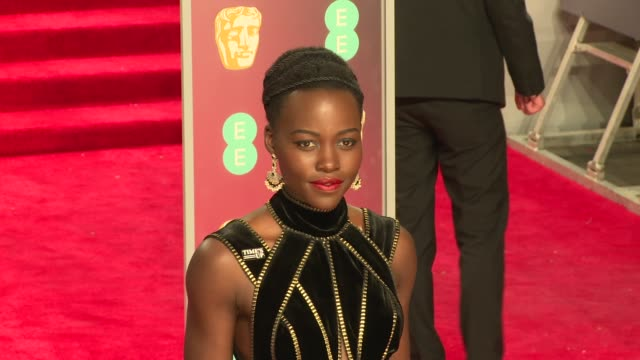 Lupita Nyong'o at Royal Albert Hall on February 18 2018 in London England