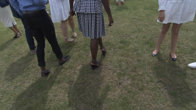 lupita nyong'o at seventh annual veuve clicquot polo classic at at liberty state park on may 31 2014 in jersey city new jersey - lupita nyong'o stock videos and b-roll footage