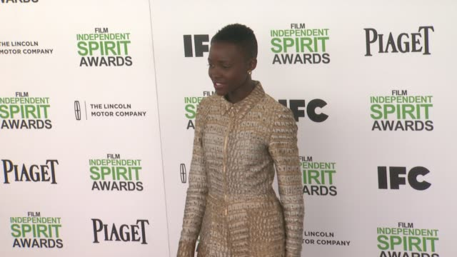 lupita nyong'o at the 2014 film independent spirit awards arrivals on march 01 2014 in santa monica california - lupita nyong'o stock videos and b-roll footage