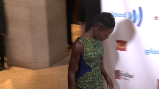 lupita nyong'o at the 25th annual glaad media awards at the beverly hilton hotel on april 12 2014 in beverly hills california - lupita nyong'o stock videos and b-roll footage