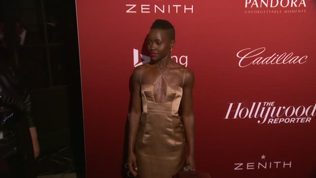 lupita nyong'o at the hollywood reporter's annual nominees night party at spago on in beverly hills california - lupita nyong'o stock videos and b-roll footage