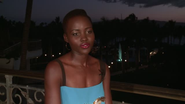 interview lupita nyong'o on star wars role on being in maui and her activities on the island 2014 maui film festival at wailea day 4 on june 07 2014... - lupita nyong'o stock videos and b-roll footage