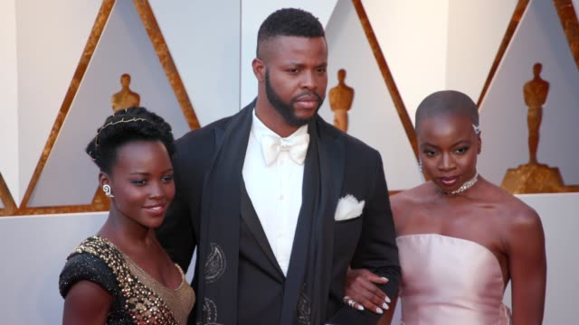 Lupita Nyong'o Winston Duke and Danai Gurira at the 90th Academy Awards Arrivals at Dolby Theatre on March 04 2018 in Hollywood California