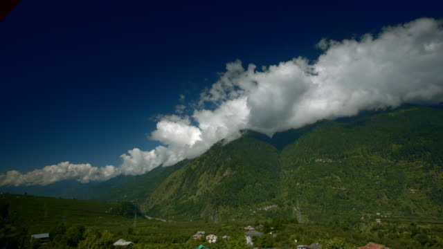 luscious green farming valley in Manali