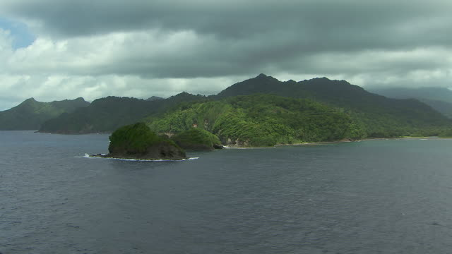 Lush Coast And Islets Of Dominica