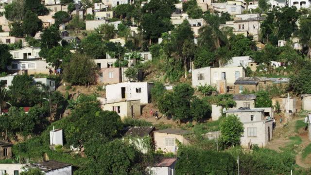 Lush hillside village, South Africa