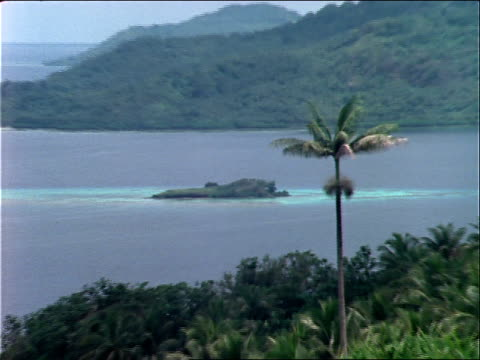 stockvideo's en b-roll-footage met lush jungle surrounds truk lagoon. - bedektzadigen