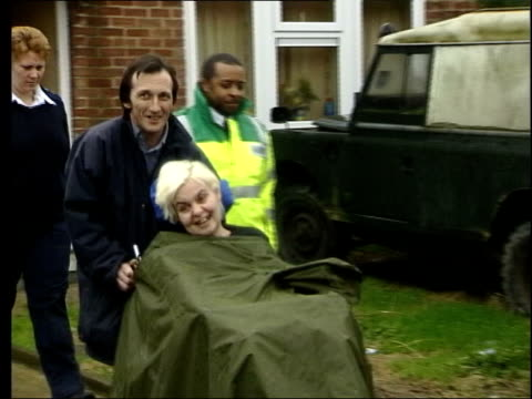 luton ext brian pretty wheeling diane in wheelchair to ambulance - euthanasia stock videos & royalty-free footage