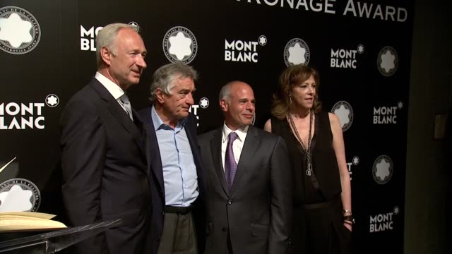 Lutz Bethge Robert De Niro Mike Giannattasio Jane Rosenthal Brooke Neidich Joe Daniels at 23rd Annual Montblanc De La Culture Arts Patronage Award...