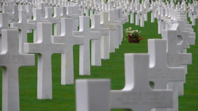 luxembourg american cemetery and memorial, luxembourg-hamm, luxembourg, europe - cemetery stock videos & royalty-free footage