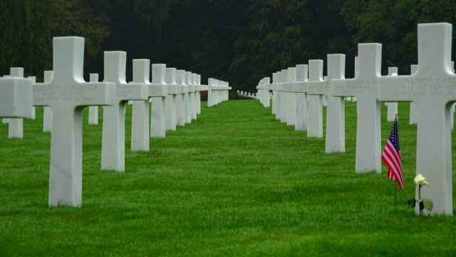 luxembourg american cemetery and memorial, sandweiler, luxembourg - religion stock videos and b-roll footage